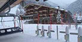 accommodation for pupils and teachers on a school skiing trip