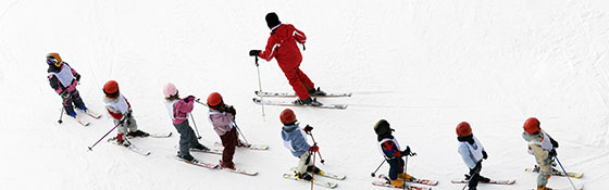 School skiing trip in France
