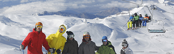 School skiing trip in Sierra Nevada