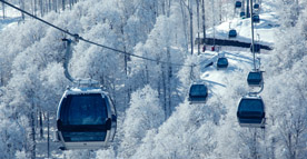cable cars on your school ski trip