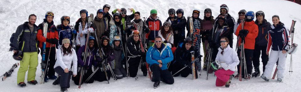 Pupils school ski trip