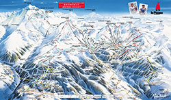 school ski trip in La Plagne